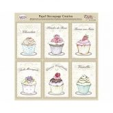 Papel decoupage pasteles cup cakes Dayka