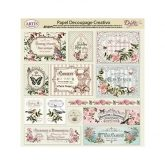 Papel decoupage garden rose Dayka