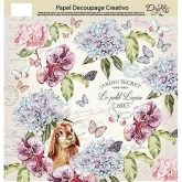 Papel decoupage jardin secret Dayka