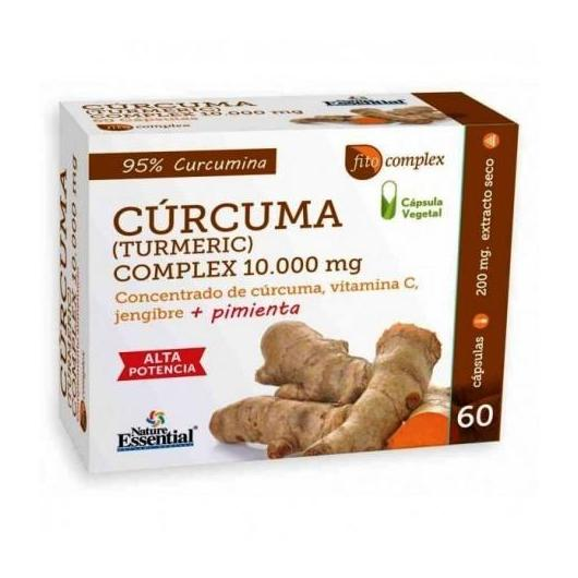 Cúrcuma complex Nature Essential 10000 mg, 60 cápsulas
