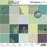 Set papel de scrapbooking 40p Jungle Artemio