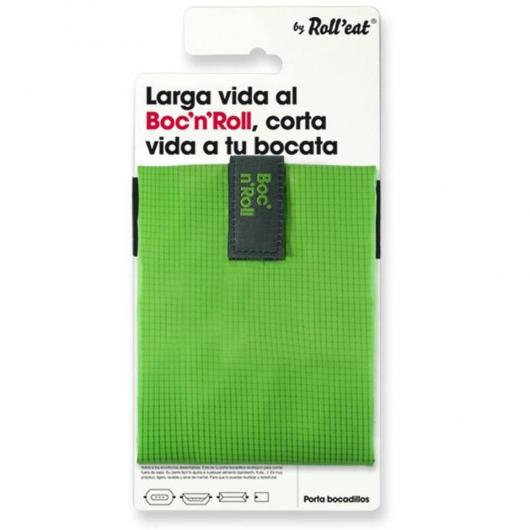 Porta bocadillos reutilizable Boc'n'Roll SQ color verde