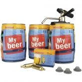Set completo 3 barriles + CO2 My Beer, Brewferm