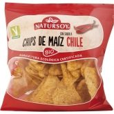 Chips de maíz y chili Natursoy, 75 g