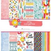 Set de papel de scrapbooking 30 x 30 Oh happy life Amy Tangerine