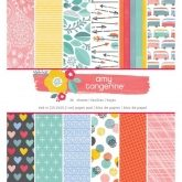 Set de papel de scrapbooking 15 x 15cm Oh happy life Amy Tangerine