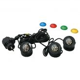 Set 3 Focos LED con lentes de colores