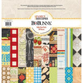 Set papel scrapbooking Family recipes 30 x 30 cm Bobunny