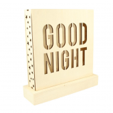 "Lámpara ""Good night"" de madera"