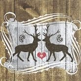 Servilleta renos Stags in love 33 x 33 cm