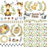 "Set papel sublimación - 4 hojas 30 x 30 ""Forest Friends"""