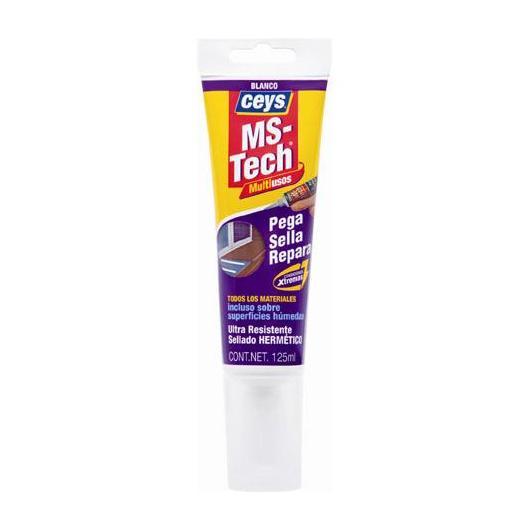 Adhesivo y sellador Ceys MS-Tech turbo blanco 125 ml