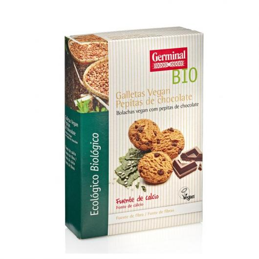Galletas Vegana con Pepitas de Chocolate Germinal, 250 gr