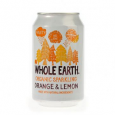 Refresco BIO naranja y limón Whole Earth 330 ml