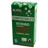 Cápsulas Compostables de Café Intenso Alternativa, 10 uds