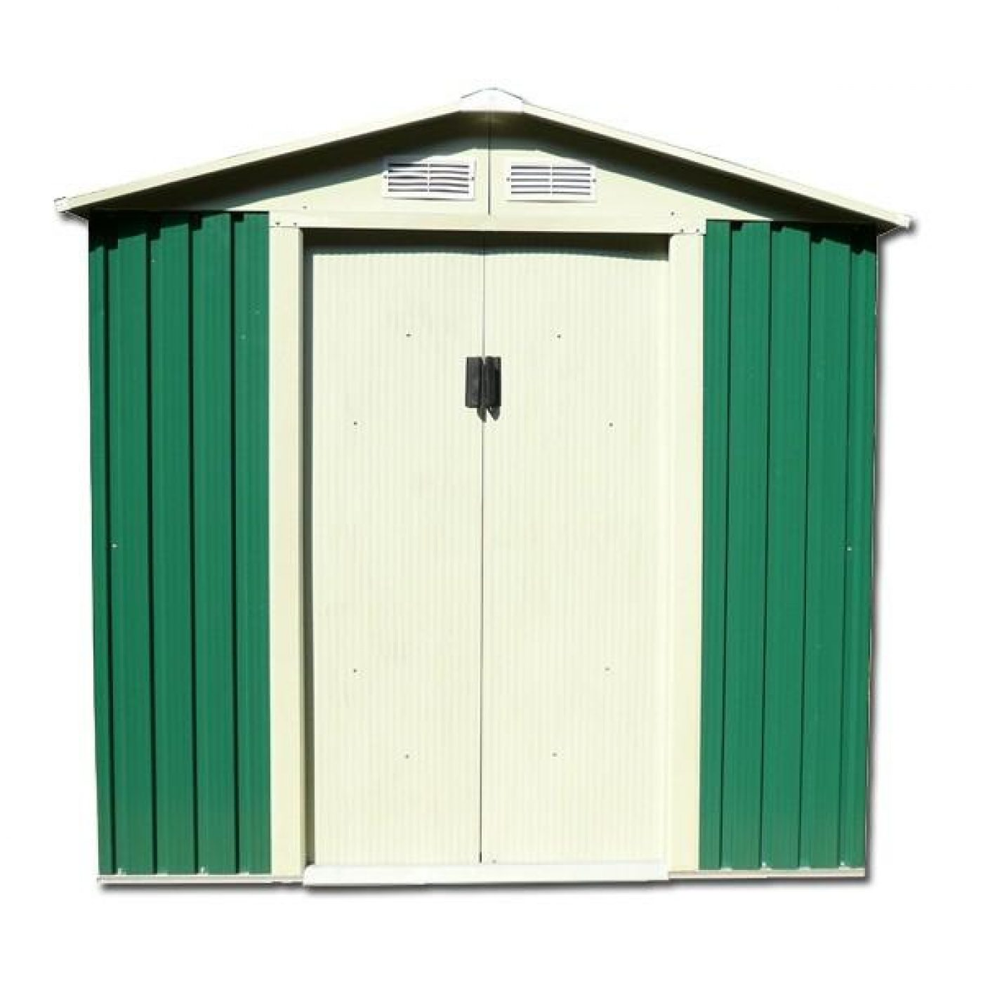 Petit hangar m tallique avec porte double battant 121 x - Porte metallique double battant ...