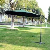 Sombrilla parasol reclinable verde 3 x 2,6m Outsunny