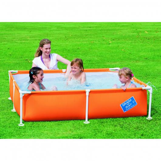 Piscine pour enfants My First Frame orange MOYENNE 163 x 163 x 35,5 cm