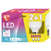 Pack 2+1 Bombillas LED Esféricas 5W E14 luz Neutra 4000K 4U LED