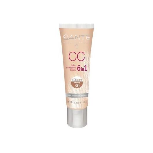 Maquillaje CC Cream 6 en 1 bronze Sante 30ml