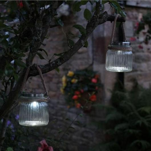 Lampara colgante Solar LED Modelo Cornish