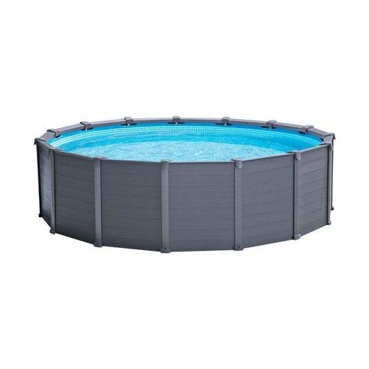 Piscina desmontable Intex - Graphite Grey Panel - 478x124 cm, 16.805 litros
