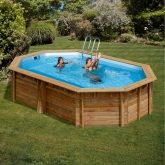 Piscina Oval Canelle Gre 551 x 351 x 119 cm