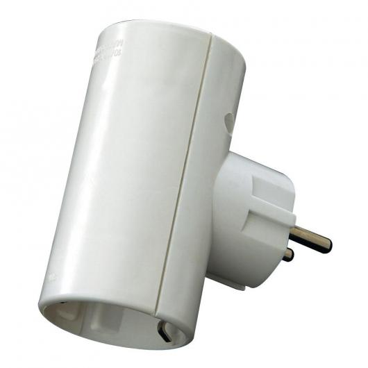 Ladrón enchufe doble 16 A 250 V Blanco Duolec