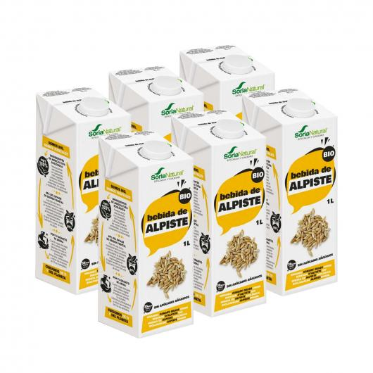 Pack 3 x 1 L Leite de alpiste 100% vegetal Soria Natural