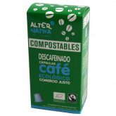 Cápsulas Compostables de Café Descafeinado Alternativa, 10 uds