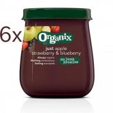 Pack 6x vasetto di mele, fragole e more ECO Organix Hero, 120g