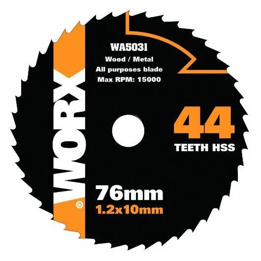 Disque multi-usages Worx de Ø 76 mm et 44 dents
