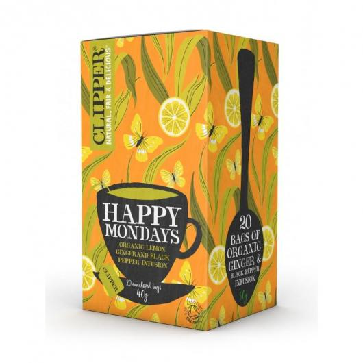 INFUSIÓN HAPPY MONDAYS BIO, 20 SOBRES Clipper