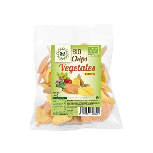 Chips de vegetales sin gluten Sol Natural 45g