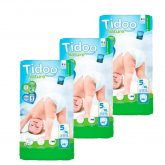 Pack Pañales T5 Junior (12/25 kg) Tidoo, 138 unidades