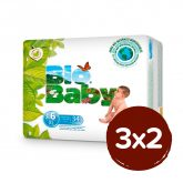 PACK 3X2 Pañales BIO BABY T6 (+16kg) 102 unidades