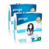 Pack 2x Pañales Pingo T6 XL (15-30kg) 64 uds