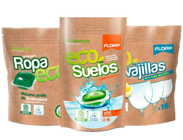 Detergentes eco y compostables.